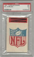 1961 Topps Sticker NFL Emblem with tab PSA 5 Ex Mint