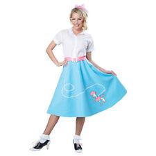82f933a13d957 50s Poodle Skirt Womens Adult Blue Costume L/xl
