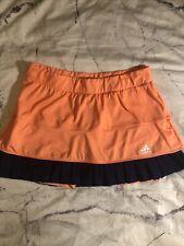 adidas Womens Premium Skort Sport Tennis Mini Skirt Shorts Orange Sz L