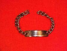 + Bracelet gourmette homme en métal argenté à personnaliser +