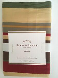"Pottery Barn Duncan Stripe Standard Sham New in Package 26"" x 20"""