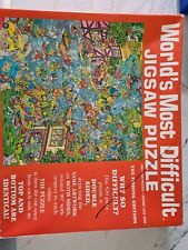 WORLDS MOST DIFFICULT JIGSAW PUZZLE 529pc THE FISHING EDITION COMPLETE RARE
