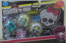Monster High ~ Minis Doll 3 Pack ~ Frankie Stein, Lagoona Blue & Twyla