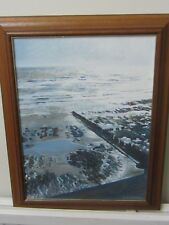 Original Oil of Low Tide near Eastbourne  by David Statter