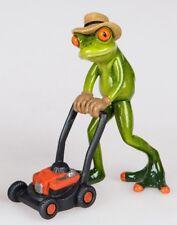 Formano Figurine Décorative Frosch Gärtner avec Tondeuse à Gazon Peint à la Main