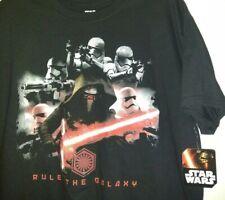 L Star Wars KYLO REN Rule The Galaxy MENS Storm Trooper Dark Side Black t Shirt