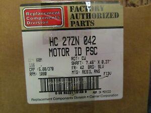 NEW CARRIER HC27ZN042 Motor 1/15 HP,115V,1-Phase,1080 rpm, CW. FR.42 Resi Rng
