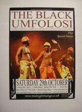 THE BLACK UMFOLOSI - A6 flyer - COLSTON HALL, BRISTOL - OCTOBER 2011