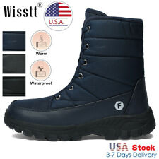 Men's insulation Waterproof Ankle Winter Warm Outdoor Hiking Snow Boots Black