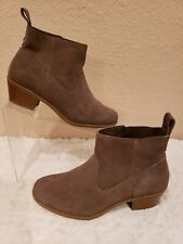 Vionic Water Resistant Suede Ankle Boots - Vera Greige Women's US 7