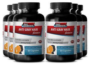 Reduce Gray Hair Capsules - Anti-Gray Hair Solution 1500mg - Anti Gray Hair 6B