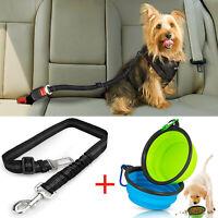 Foldable Safe Dog Bowls Pet Seat Belt Puppy Cat Pouch Snack Bag Travel Carrier