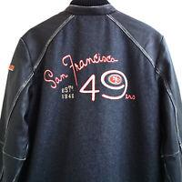 Tommy Bahama NFL San Francisco 49ers Varsity Leather Jacket Men's Medium $595
