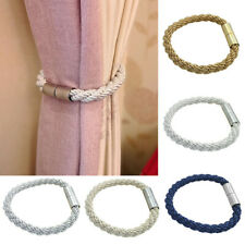 Magnetic Curtain Buckle Tie Backs Twisted Holder Back Rope Cord Strap HOME Decor