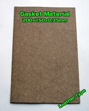 Gasket Leather type Material Sheet 20x15cm 0.35mm Oil Fuel Resistant