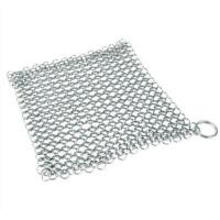 Stainless Steel Cast Iron Cleaner Chain mail Scrubber Tool Kitchen Home I8U7