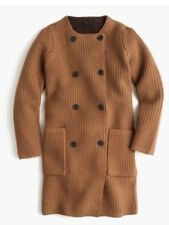 J Crew Collection Bonded Knit Sweater Coat Caramel Chocolate Size XS