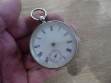 With Key dates c 1904 Antique Gents Silver Pocket Watch Working