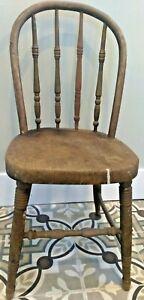 Antique Primitive Child's Doll's Windsor Chair Hoop Back Bentwood