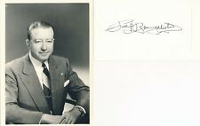 Paul MacAlister-Vintage Signed Card from 1960 with Vintage Photo