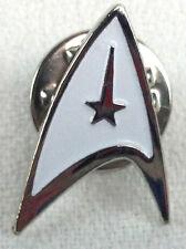 STAR TREK - WHITE Star Fleet Logo Classic Sci-Fi TV Series Pin - Kirk & Spock