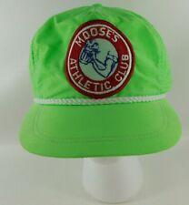 Vintage Moose's Athletic Club USA Green Imperial Headwear Strap Back Ball Cap