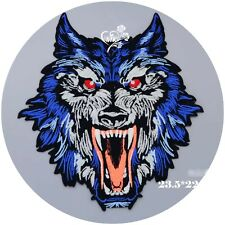 Wolf Roses Head Dress and Feathers Embroidered Large BACK Patch LRG-0638 Motorcycle Memorabilia Patches