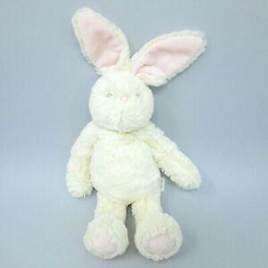 "F&F Baby cream bunny rabbit soft toy plush comforter pink ears feet Tesco 11"""