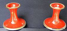 """FITZ & FLOYD china RONDELET Terra Cotta pattern ~2 Candle Holders ~ 4"""""""