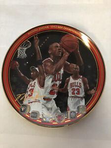 "Michael Jordan Plate ""1992 NBA Championship"" Upper Deck Bradford Exchange Lim Ed"