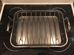 Farberware Large Nonstick Roasting Pan with rack