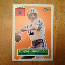 ROGER STAUBACH #49 Cowboys QB HOF #ed/99 made 2015 Topps Heritage Throwback 5x7