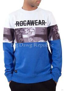 Rocawear Men's Designer Sweatshirt Jumper, New G Hip Hop Era Star, Is Time Money