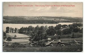 Conesus Lake, NY View of Long Point from Hill Back of McPherson Point Postcard