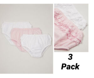 NEW baby girls Nutmeg 3 pack frilly knickers nappy covers pants spanish summer