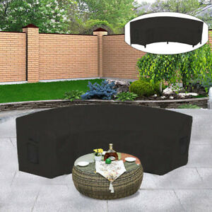 1PC Patio Curved Sofa Cover Waterproof Outdoor Furniture Cover Garden Reasonable