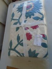 Pottery Barn Maisie Christmas Full-Queen Quilt Red Green NEW