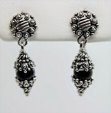 A91 Unique Design Style Rhodium Plated Black Pearl Drop Post fashion Earring W11