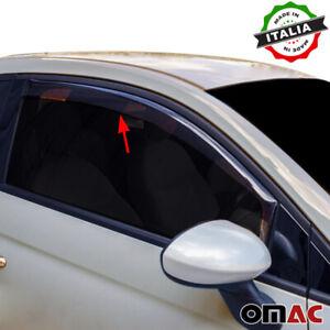 Window Visor Vent Sun Shade Rain Guard 2pcs Fits Fiat 500 2012-2018