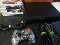 Microsoft Xbox 360 Elite 120 GB Black Console Bundle - 8 Games - Tested