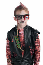 Prosthetic Eyeball Glasses Blood Zombie Droop Gross Halloween Costume Accessory