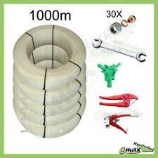 Fußbodenheizung SET - 1000 Meter 16 x 2,0mm PE-RT Rohr inkl. Zubehör