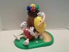 M&M Yellow Peanut Golf Player With Golf Bag On Greens Mars Inc. Candy Dispenser!