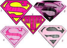 SUPERMAN GIRL LOGO STICKER /AUTOCOLLANT OU TRANSFERT TEXTILE VETEMENT T-SHIRT