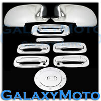 Chevy Silverado Chrome FULL Piece Mirror+4 Door Handle+KH+Tailgate+Gas Cover