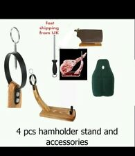 4PC CHRISTMAS SALE serrano iberian HAM Holder Ring Stand Cover + Tools RRP 69.99