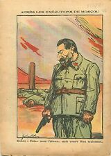 Caricature Politique anti-Communiste Staline URSS USSR Russia 1938 ILLUSTRATION