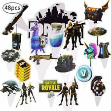 Fortnite Birthday Decoration Fortnite Cake Topper Cupcake Toppers Set 48 pieces