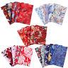 New Bundle Lot Of 5pcs Fat Quarters Cotton Quilting Fabric Flower Pattern