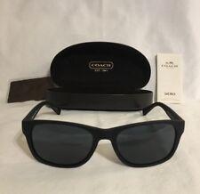 Designer Coach Men's Sunglasses Black Rectangular HC 8112 L808 ESSEX Brand New